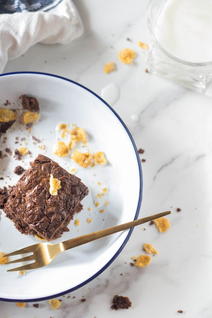 cornflakes and milk brownies-4 The Cupcake Confession