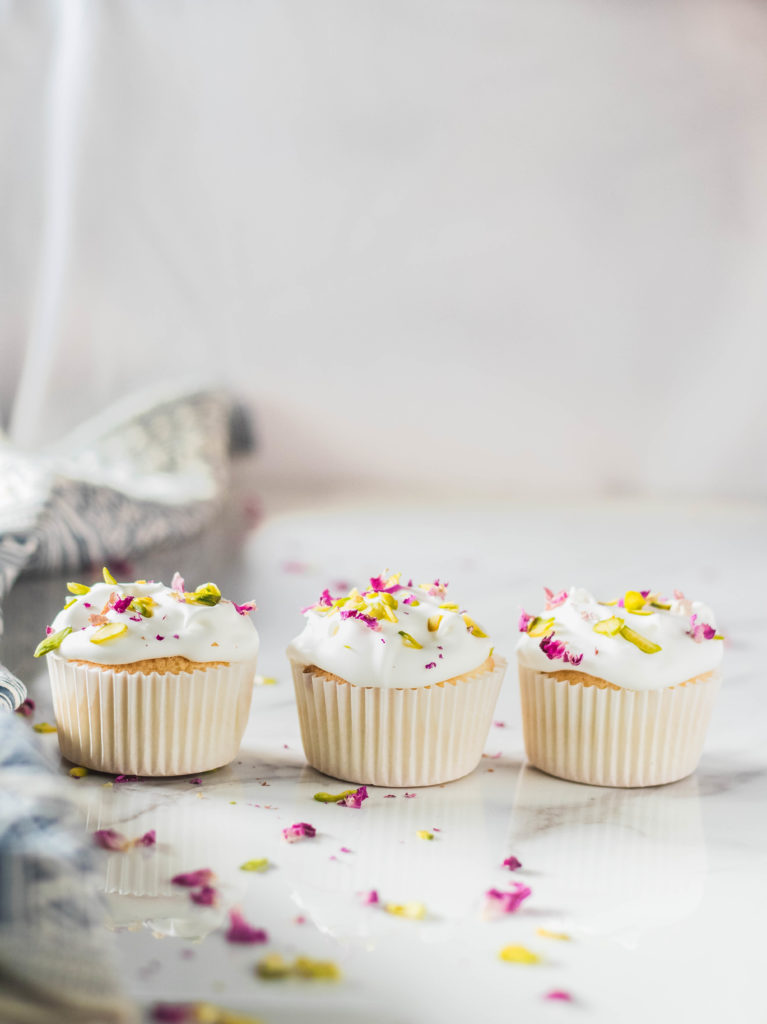 Rose Pistachio Angel Food Cupcakes - The Cupcake Confession-3