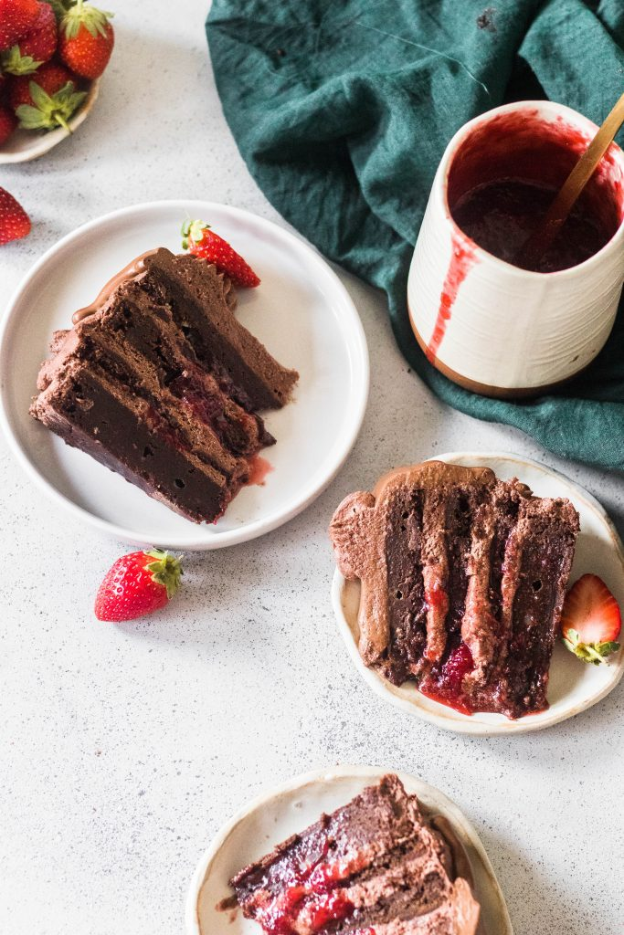 chocolate strawberry brownie cake - the cupcake confession-6